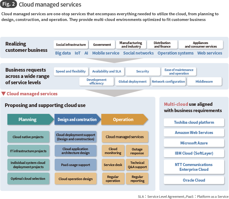 Fig. 2 Cloud managed services