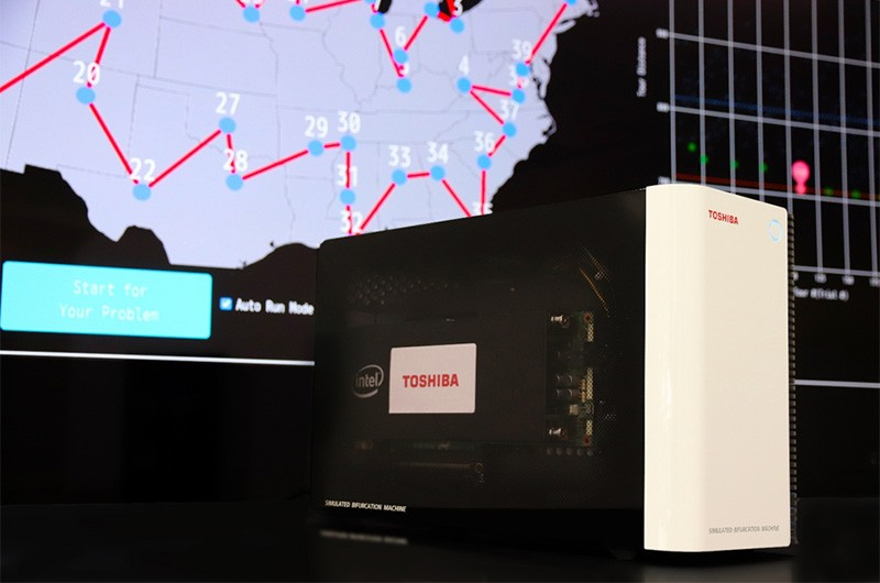 Figure 1: Desktop computer hosting Toshiba's on-premises Simulated Bifurcation Machine™.